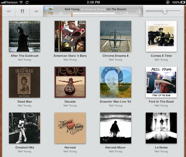 iOS 5 iPad Music App