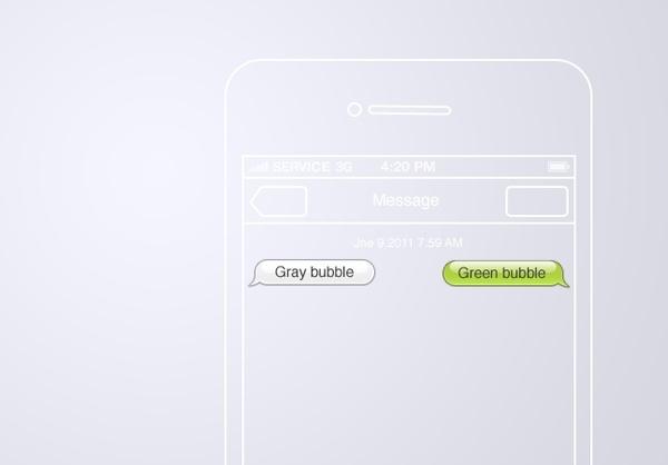 iOS 5 Message bubbles