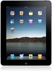 iPad front straight on
