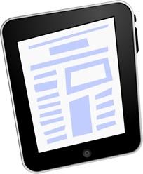 iPad text