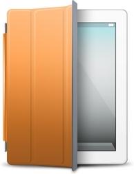 iPad White orange cover