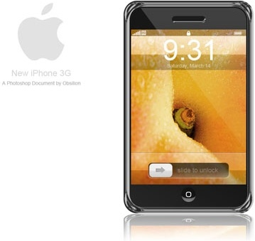 iphone 3g mobile phones psd layered
