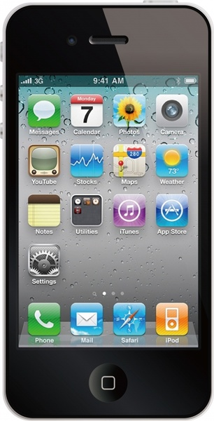 smartphone advertising banner closeup realistic modern design