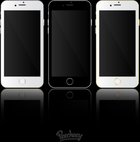 Iphone 6 template free vector in adobe illustrator ai vector iphone 6 template maxwellsz