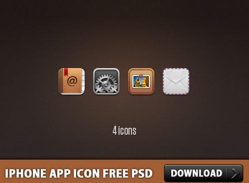 iPhone App Icon Free PSD