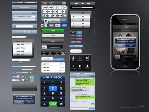 iPhone GUI PSD Source