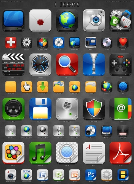 iPhone Icons icons pack