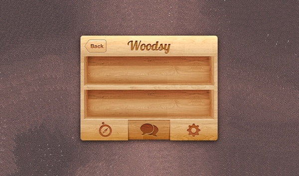 iPhone Wood UI