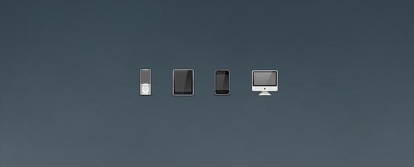 iPod, iPad, iPhone, and iMac Icons