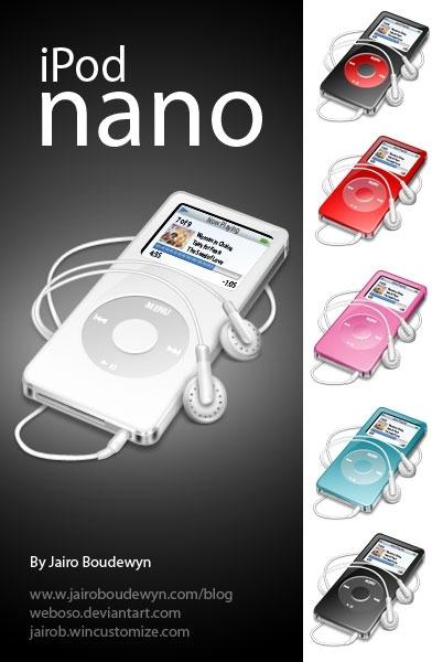 Ipod Nano Icons icons pack