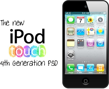 iPod Touch 4th Gen PSD