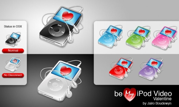 Ipod Video Valentine icons pack