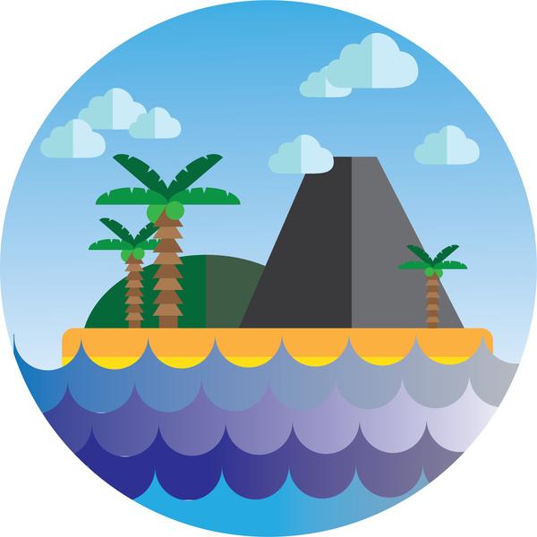 island cartoon icon