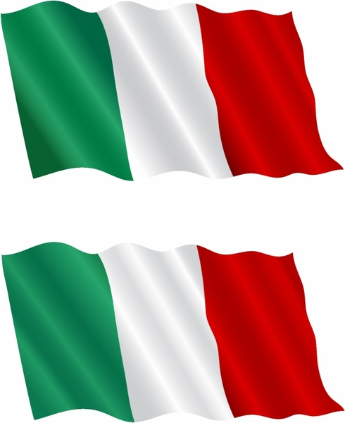 Italian Flag Flying in the Wind