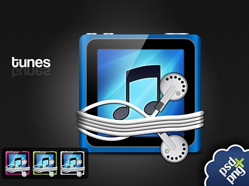 iTunes Touch icon PSD