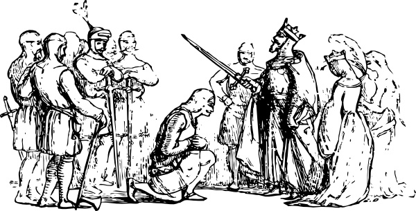 Jack And King Arthur clip art