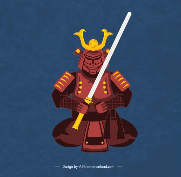japan background traditional armour icon decor
