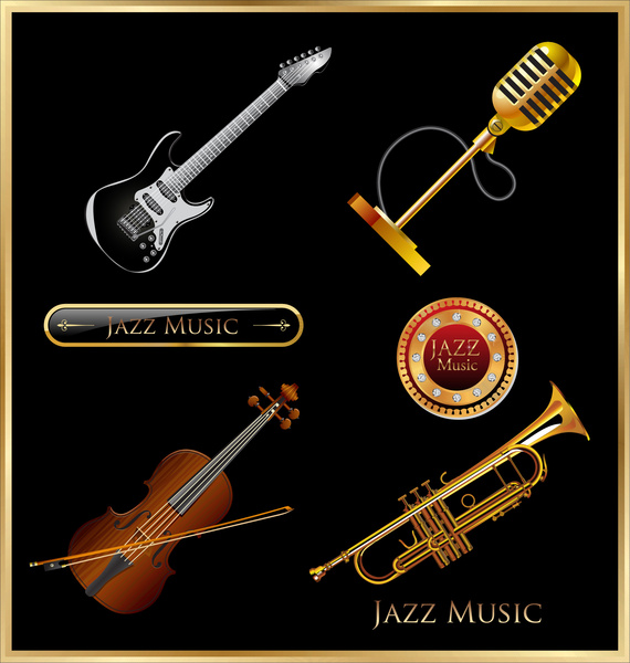 Jazz Music Instrument Free Vector In Adobe Illustrator Ai