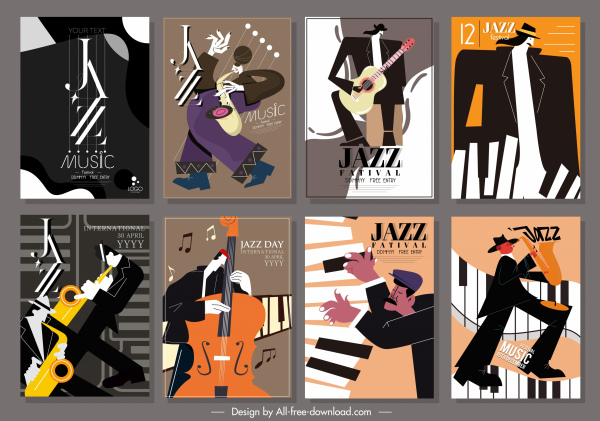 Jazz Nightly Aerobleu Paris Vintage Jazz Music Poster