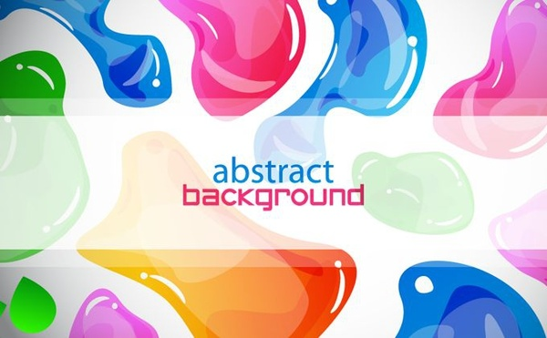 abstract background colorful jelly icons decor
