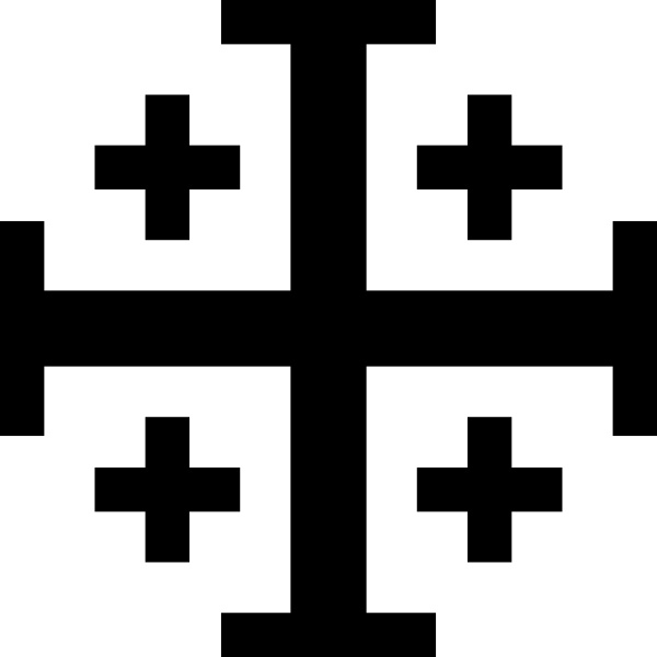 Jerusalem Cross With Cross Potent (or Crusaders' Cross), A