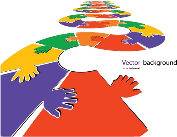 jigsaw palm silhouettes vector