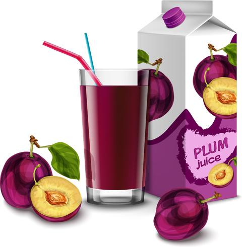 Fruit juice label designs vector free vector download ...
