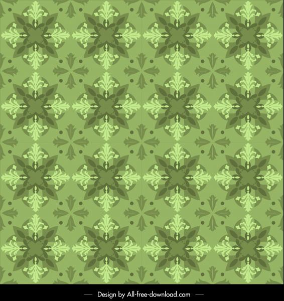kaleidoscope pattern template green repeating symmetrical monochrome
