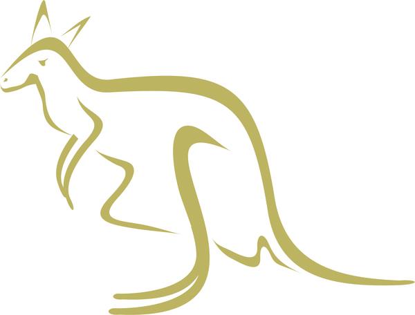 Line Drawing Kangaroo : Kangaroo free vector download for