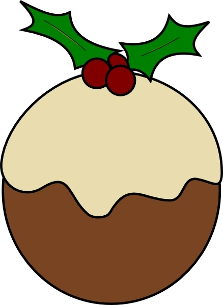 Christmas Graphics Clip Art.Karderio Christmas Pudding Clip Art Free Vector In Open