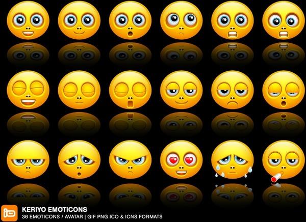 Keriyo Emoticons icons pack