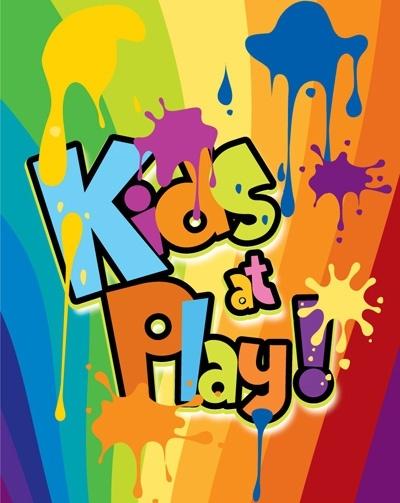 kids at play background color of the ink spilled wordart
