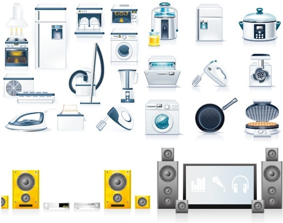 Kitchen appliances vector Free vector in Encapsulated PostScript eps ...