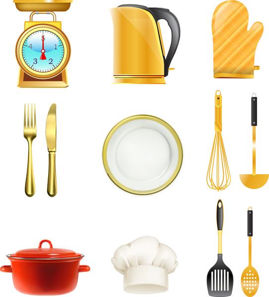 Kitchen Design Tool Online Online Kitchen Design Tool: Kitchen Tool Collection Free Vector In Adobe Illustrator