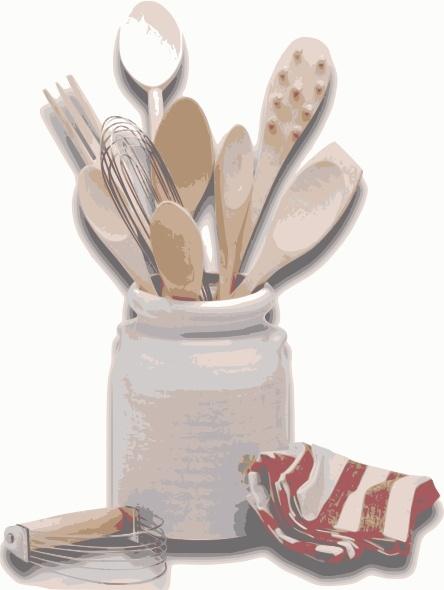 Kitchen Tools Utensils clip art Free vector in Open office ...