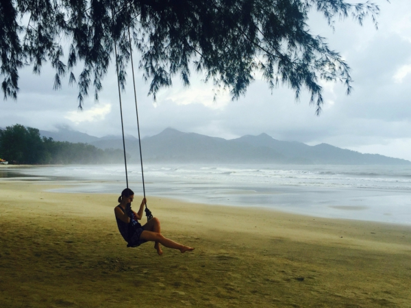 Young Woman Relaxing With Swing On Seaside Free Stock Photos In Jpg Format For Free Download 1 46mb