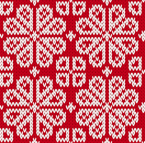 Knitted Fabric Christmas Pattern Vector Set Free Vector In Awesome Christmas Pattern