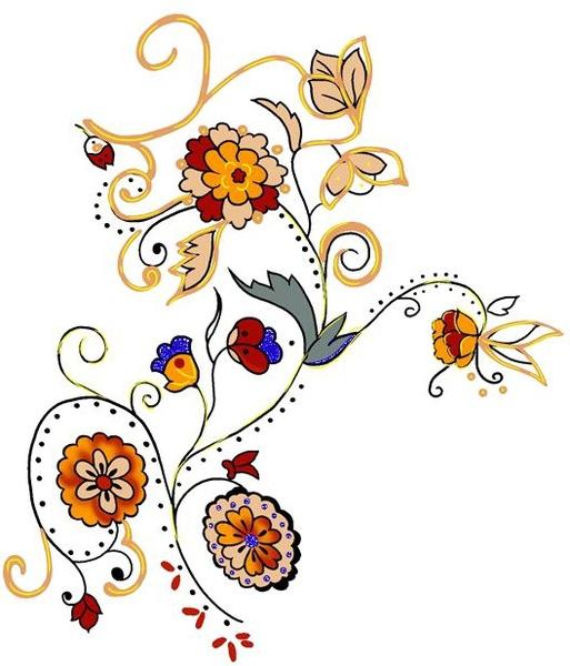 korean exquisite floral psd source files