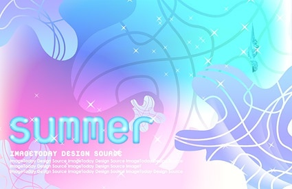 korean style summer background layered psd 4