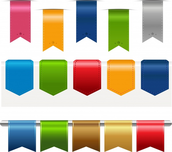 label roll angle banners vector