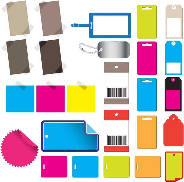 labels templates colorful modern flat blank decor