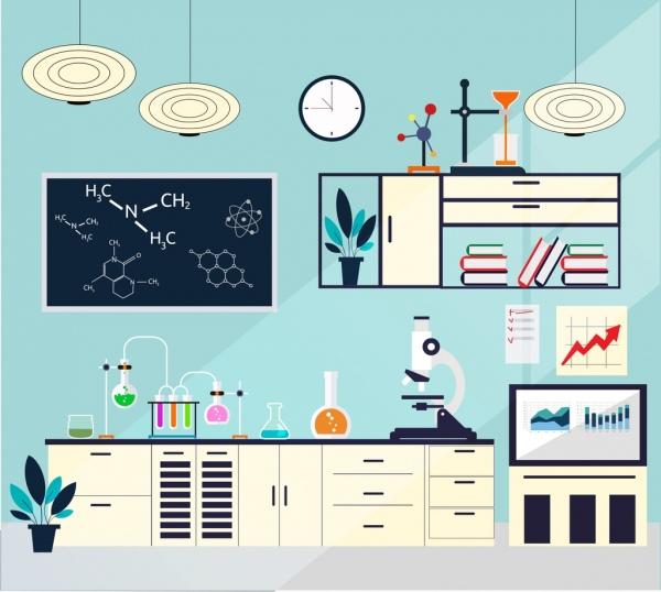 Education Background With Laboratory Vector Vector Art: Laboratory Free Vector Download (214 Free Vector) For