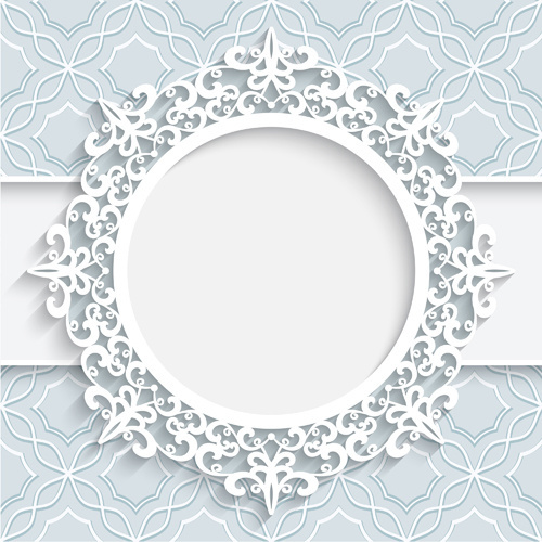 Lace ornament paper frame vector Free vector in Encapsulated ...