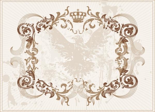 frame template royal design elegant classical symmetric curves