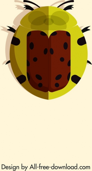 ladybug insect icon red yellow spotted decor