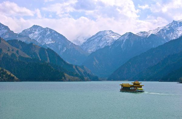 lake among mountains