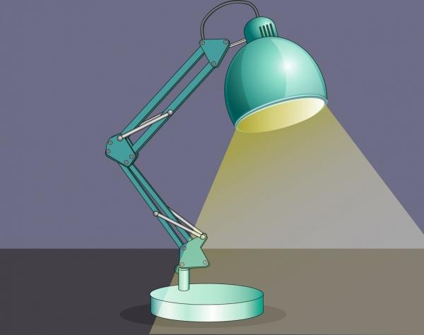 lamp icon shiny blue design