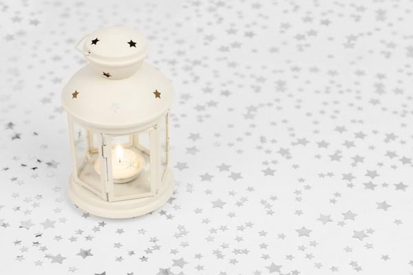 lantern on starry background