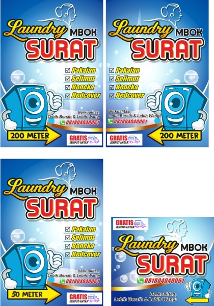 15+ Best New Free Download Spanduk Laundry Cdr
