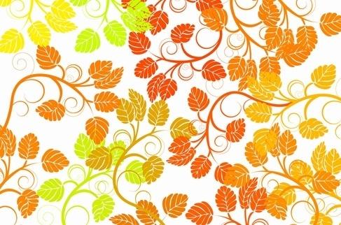 Leaf Background Colorful Vector